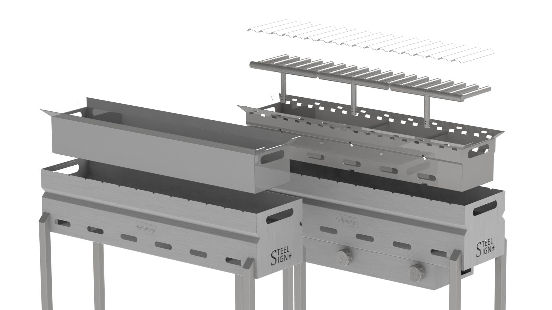 Grillmeter - Einfach und ohne Werkzeuge zerlegbar für die Reinigung oder Wartung.